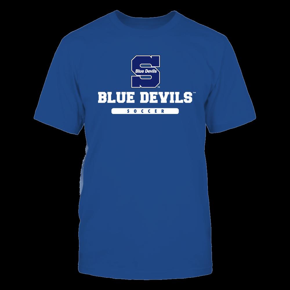 Wisconsin Stout Blue Devils - Mascot - Logo - Soccer Front picture