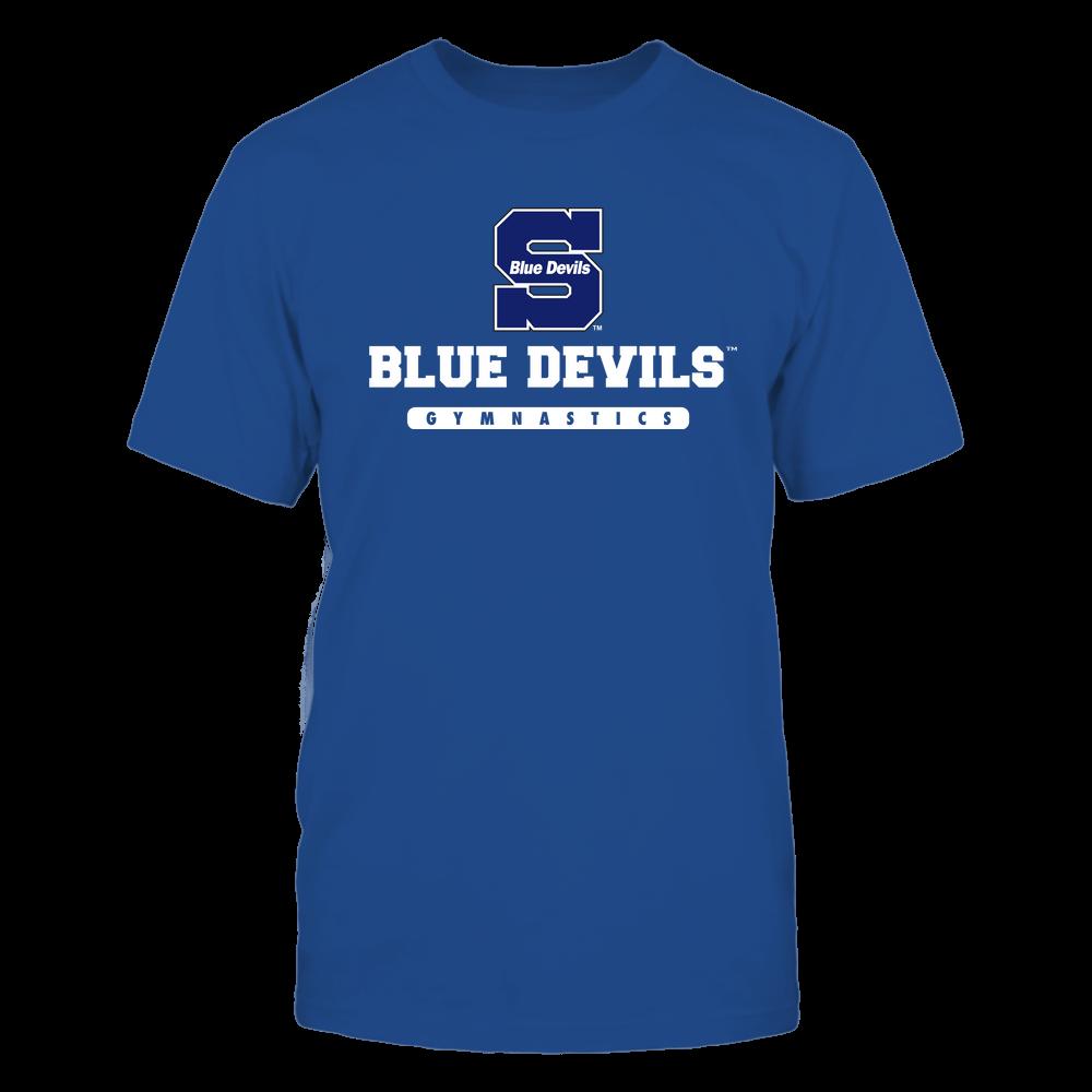 Wisconsin Stout Blue Devils - Mascot - Logo - Gymnastics Front picture