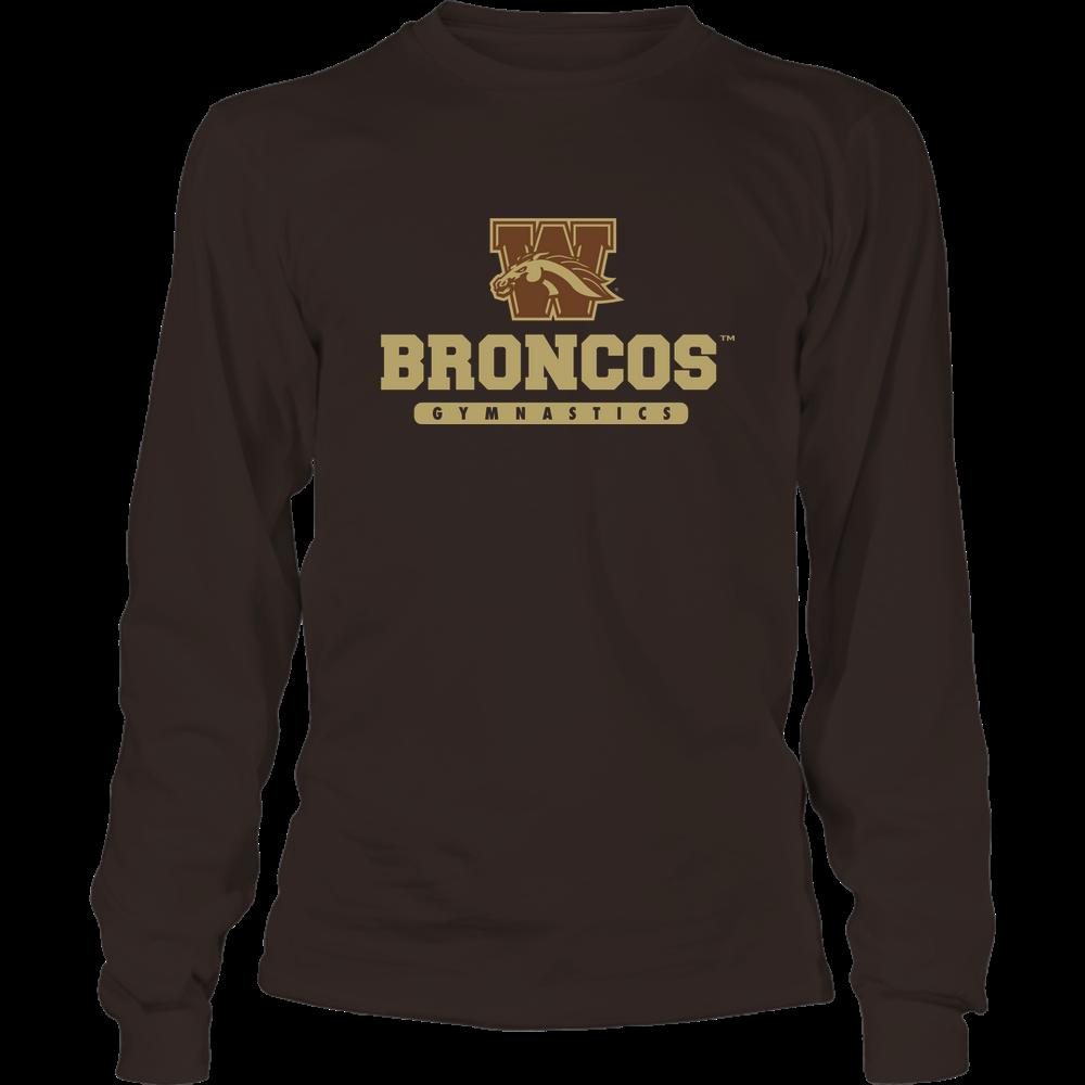 Western Michigan Broncos - Mascot - Logo - Gymnastics Front picture