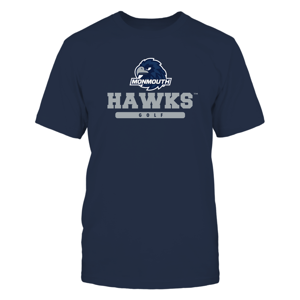 Monmouth Hawks - Mascot - Logo - Golf Front picture