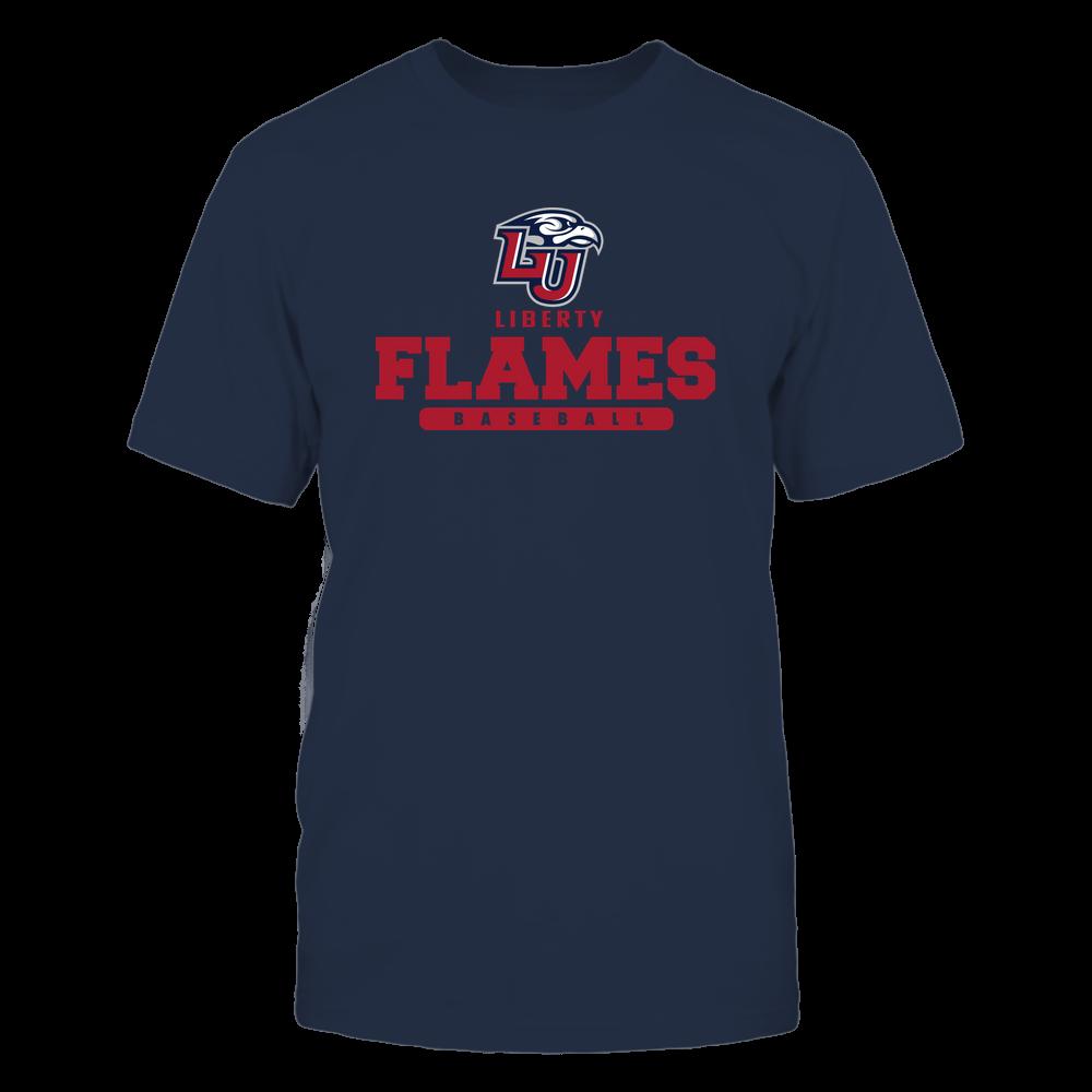 Liberty Flames - Mascot - Logo - Baseball Front picture