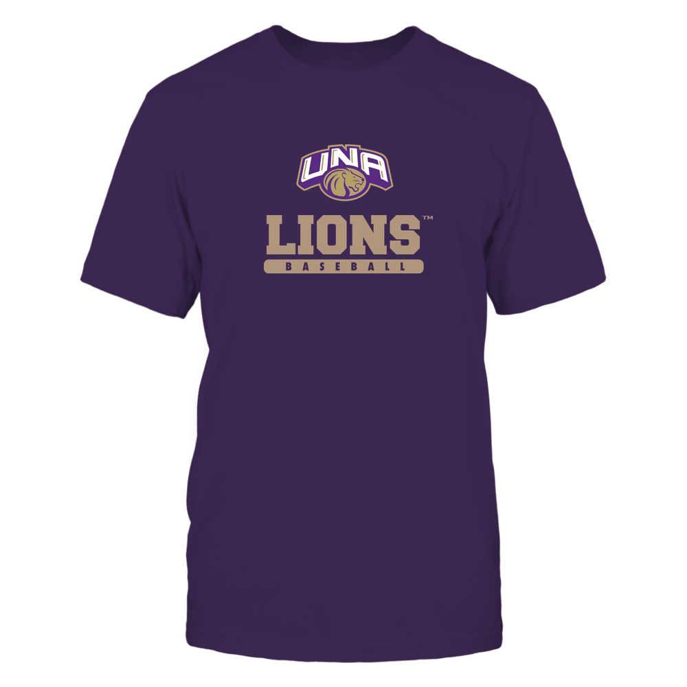 North Alabama Lions - Mascot - Logo - Baseball Front picture