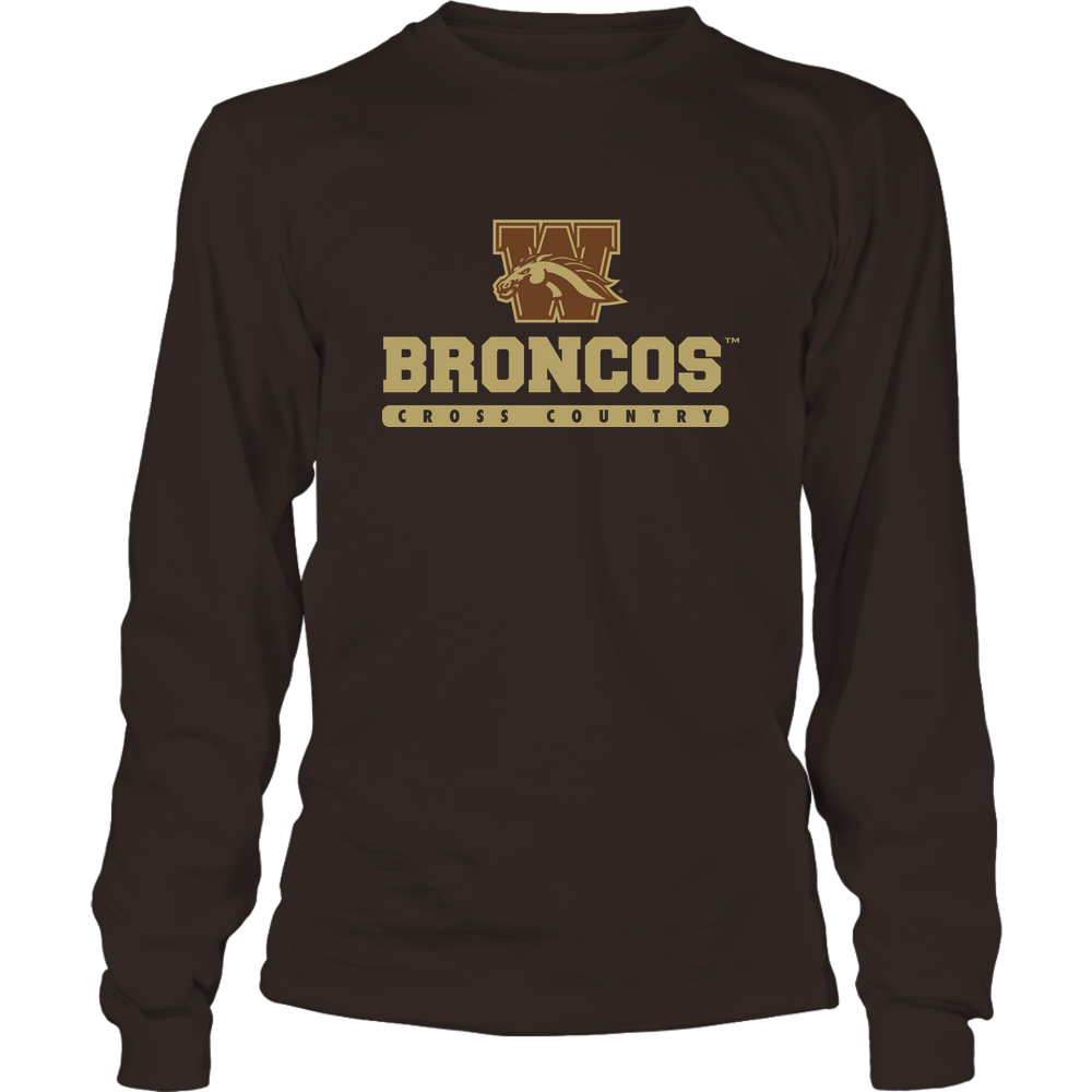 Western Michigan Broncos - Mascot - Logo - Cross Country Front picture