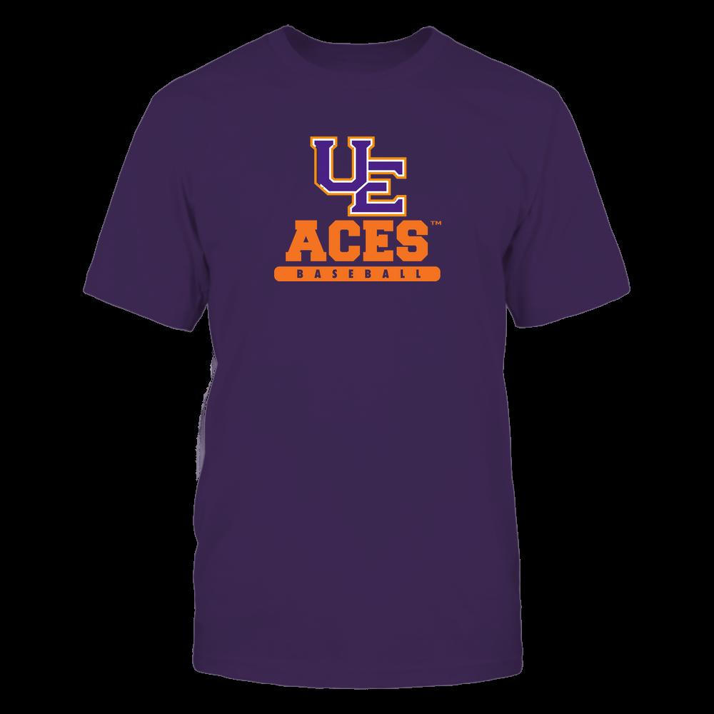 Evansville Purple Aces - Mascot - Logo - Baseball Front picture