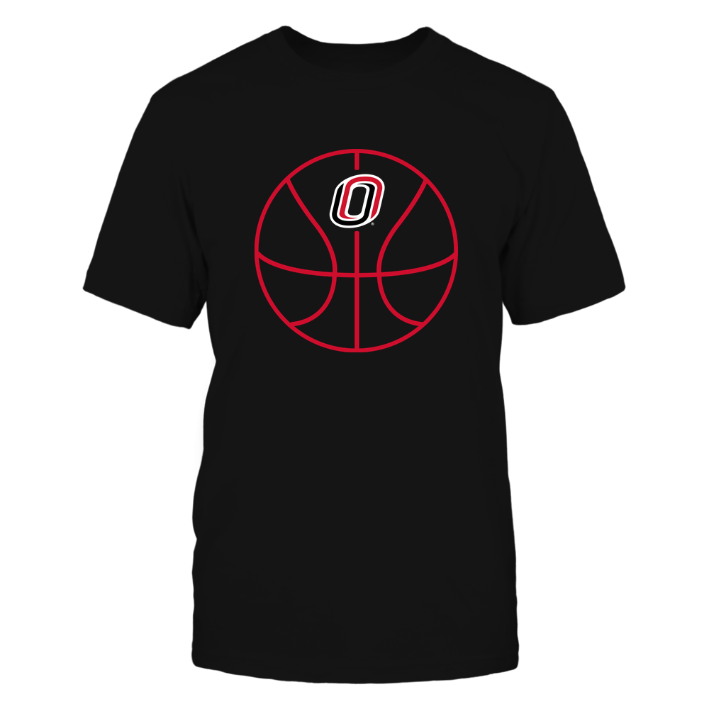 Nebraska Omaha Mavericks - Basketball - Ball Outline Front picture