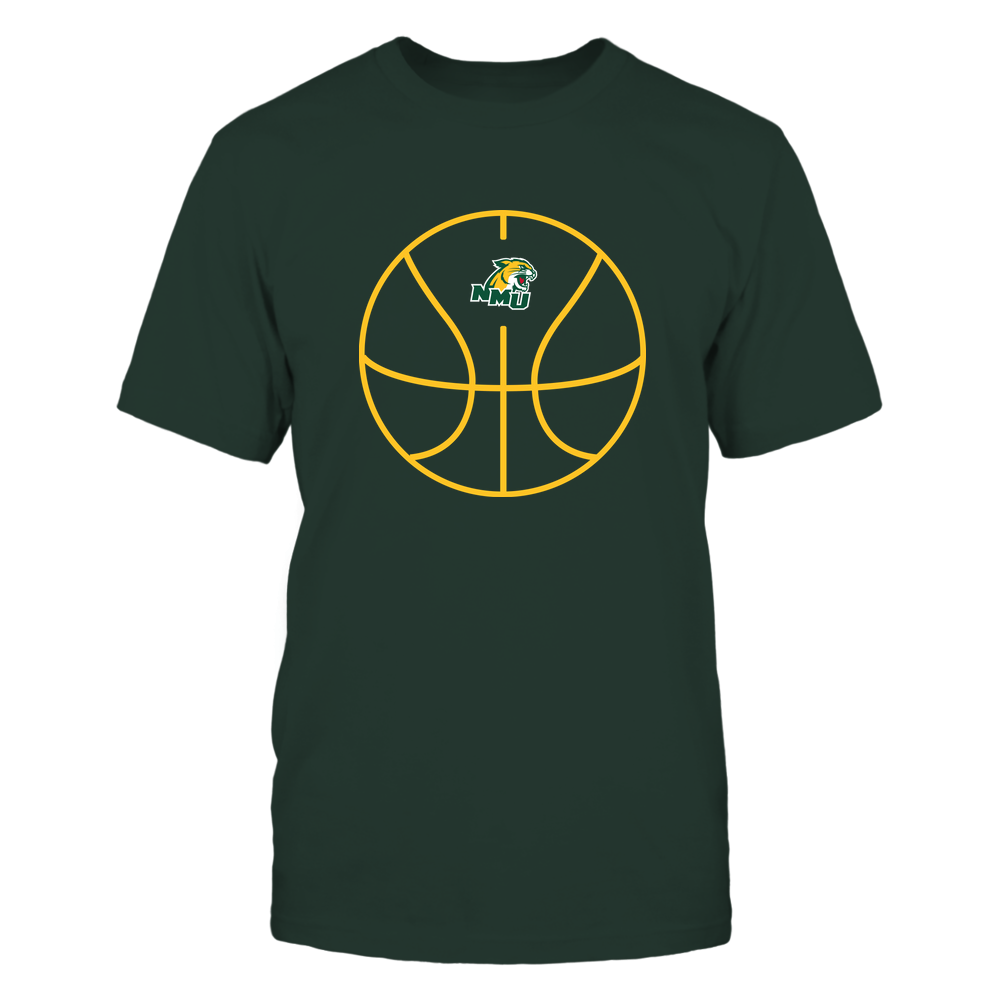 Northern Michigan Wildcats - Basketball - Ball Outline Front picture