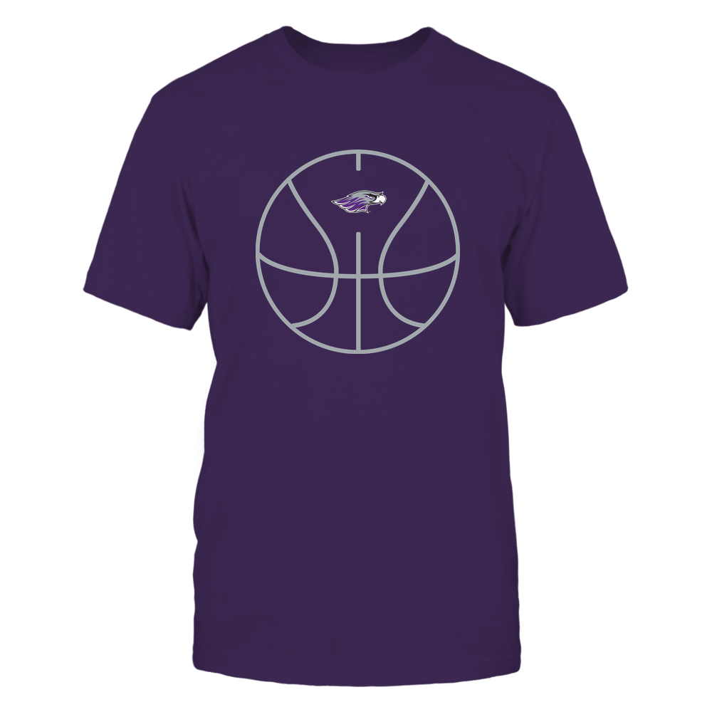 Wisconsin-Whitewater Warhawks - Basketball - Ball Outline Front picture