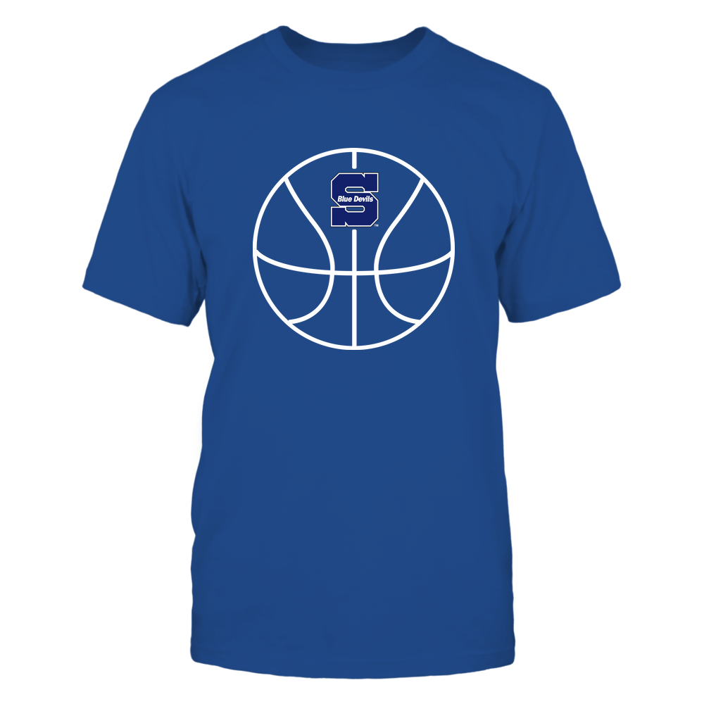 Wisconsin Stout Blue Devils - Basketball - Ball Outline Front picture
