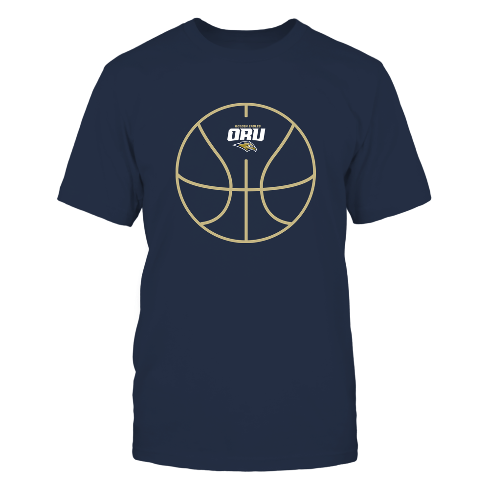 Oral Roberts Golden Eagles - Basketball - Ball Outline Front picture