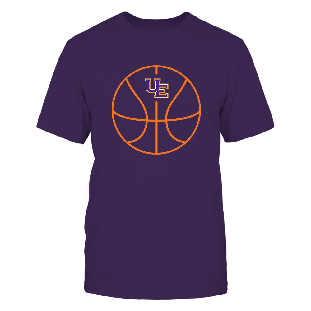 Evansville Purple Aces - Basketball - Ball Outline Front picture