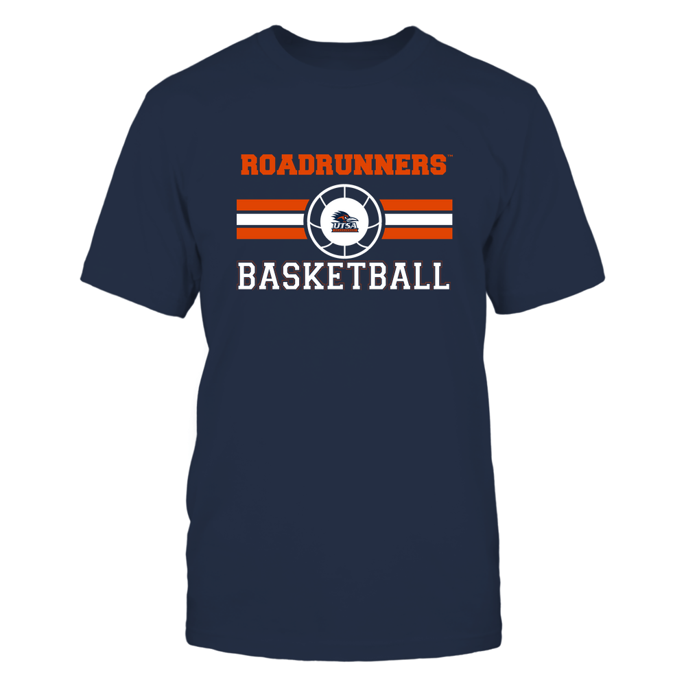UTSA Roadrunners - Basketball - Center Logo - Retro Stripes Front picture