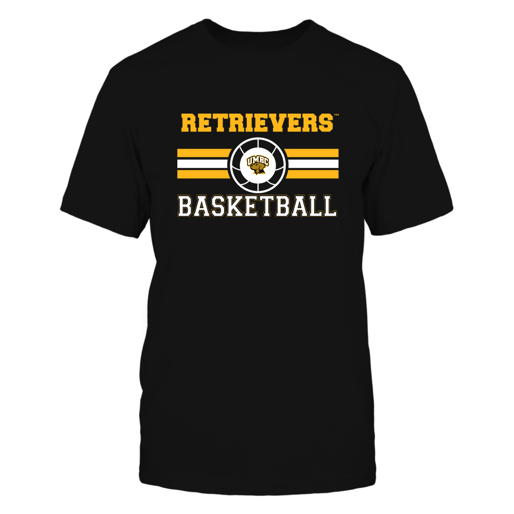 UMBC Retrievers - Basketball - Center Logo - Retro Stripes Front picture
