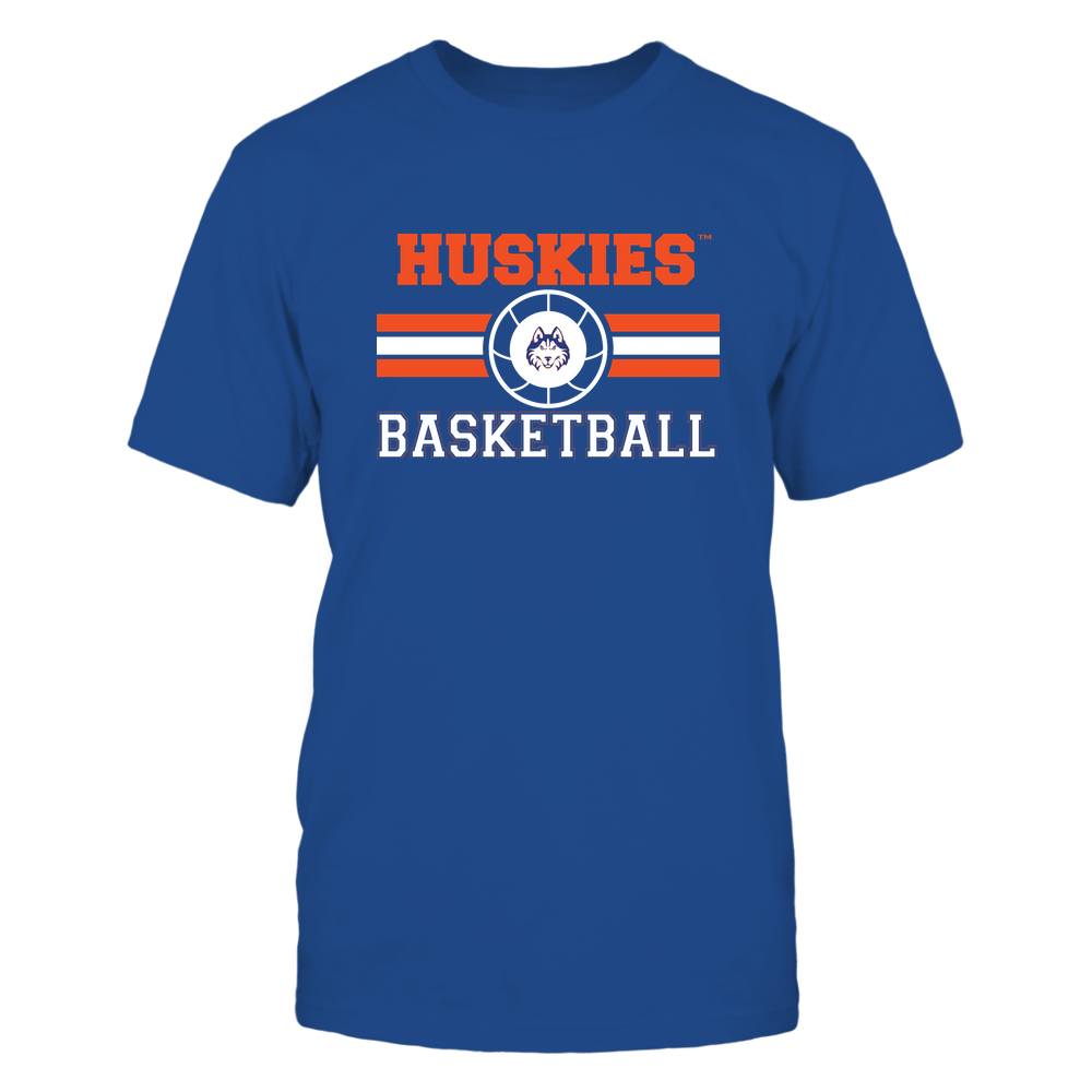 Houston Baptist Huskies - Basketball - Center Logo - Retro Stripes Front picture