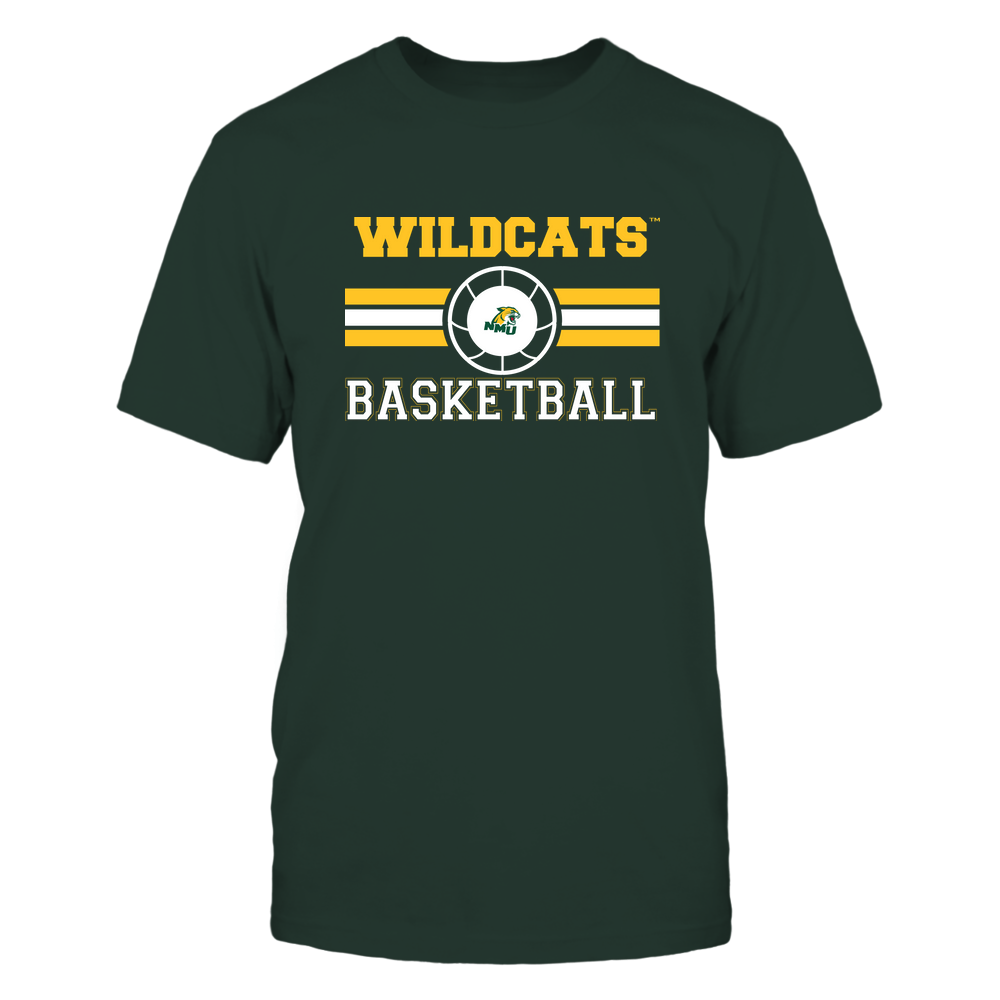 Northern Michigan Wildcats - Basketball - Center Logo - Retro Stripes Front picture