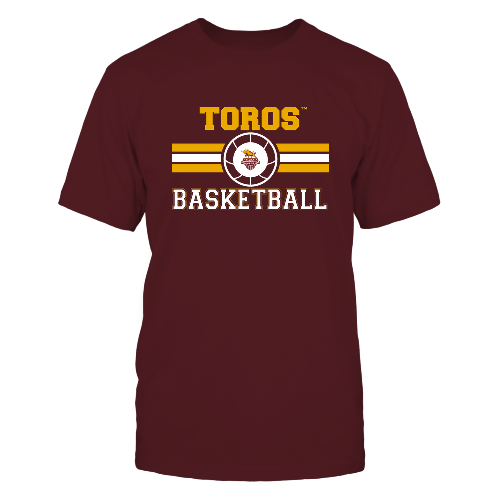 Cal State Dominguez Hills Toros - Basketball - Center Logo - Retro Stripes Front picture