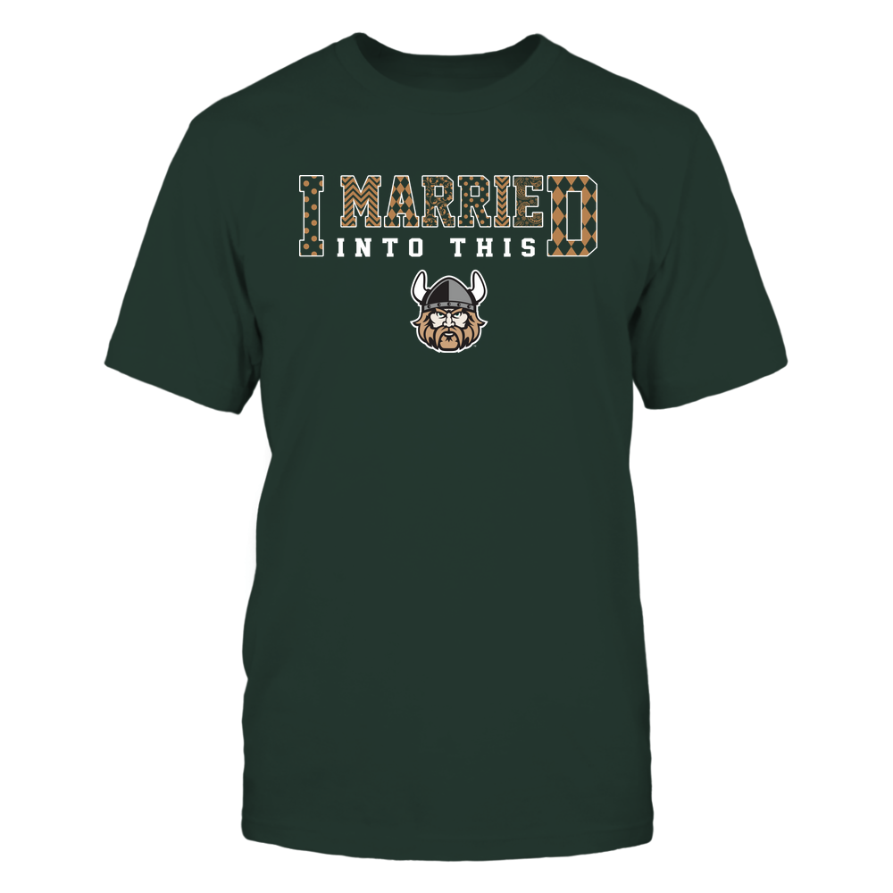 Cleveland State Vikings - I Married Into This - Pattern Front picture