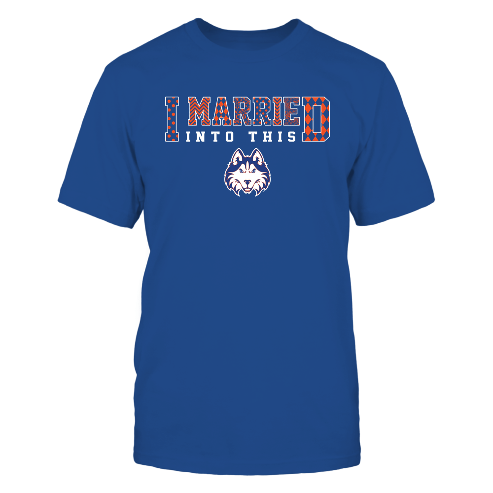 Houston Baptist Huskies - I Married Into This - Pattern Front picture
