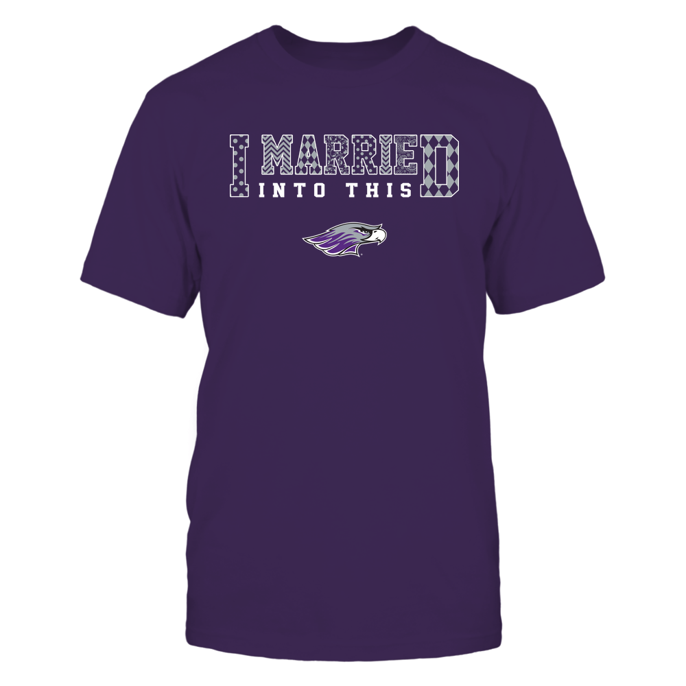 Wisconsin-Whitewater Warhawks - I Married Into This - Pattern Front picture