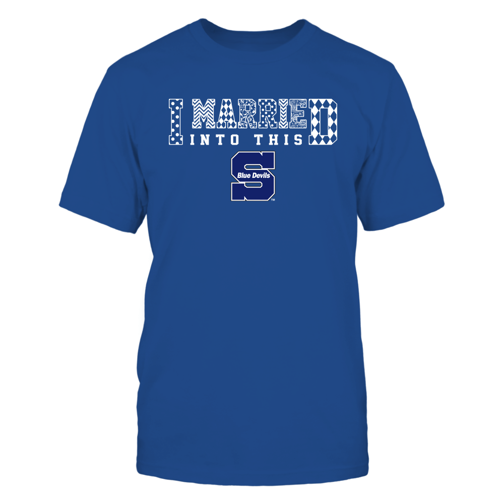 Wisconsin Stout Blue Devils - I Married Into This - Pattern Front picture