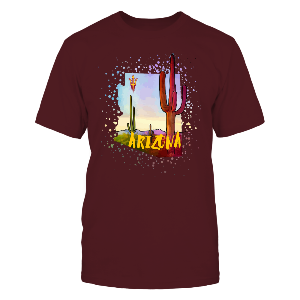 Arizona State Sun Devils - Color Drop Cactus State - IF17-IC17-DS37 Front picture