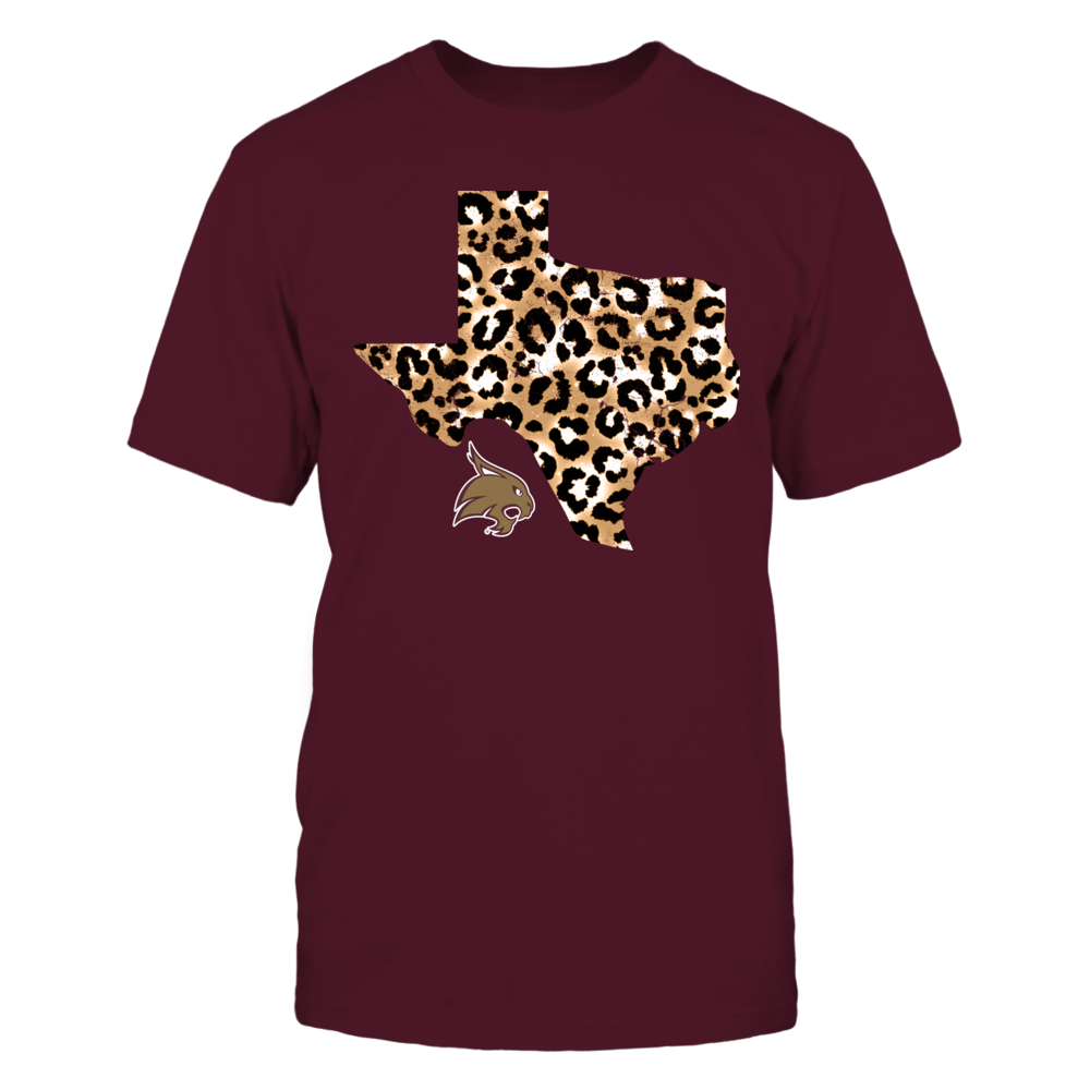 Texas State Bobcats - Leopard State Map - IF17-IC17-DS75 Front picture