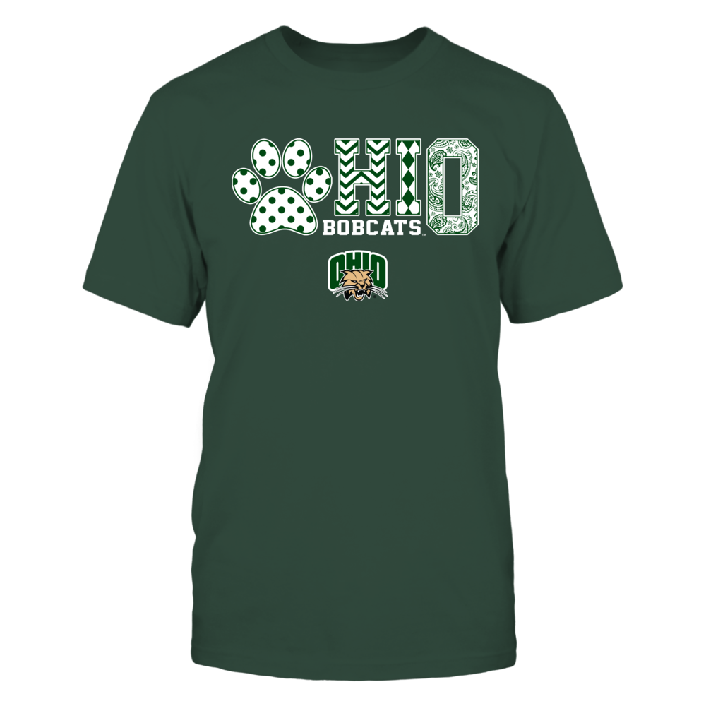 Ohio Bobcats - Slogan Pattern Paw - IF17-IC17-DS27 Front picture