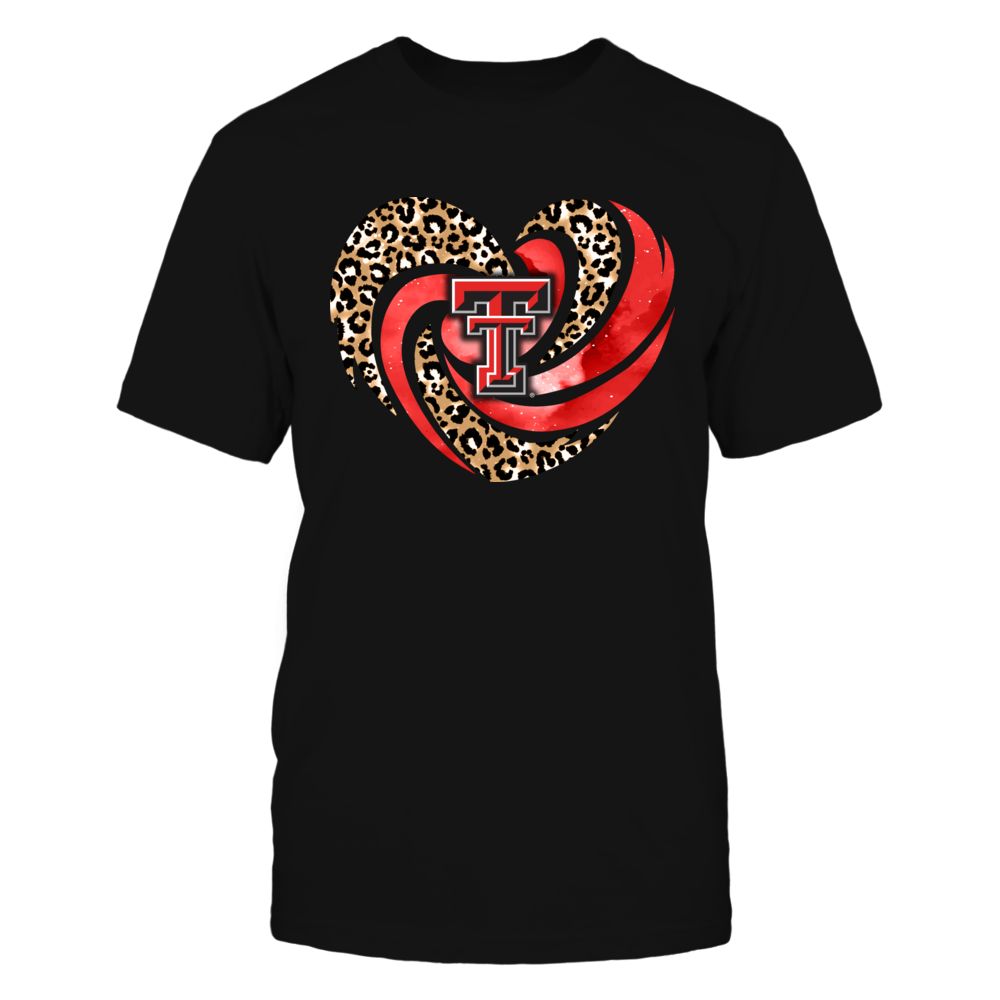 Texas Tech Red Raiders - Hurricane Heart - Leopard Pattern - IF13-IC13-DS45 Front picture