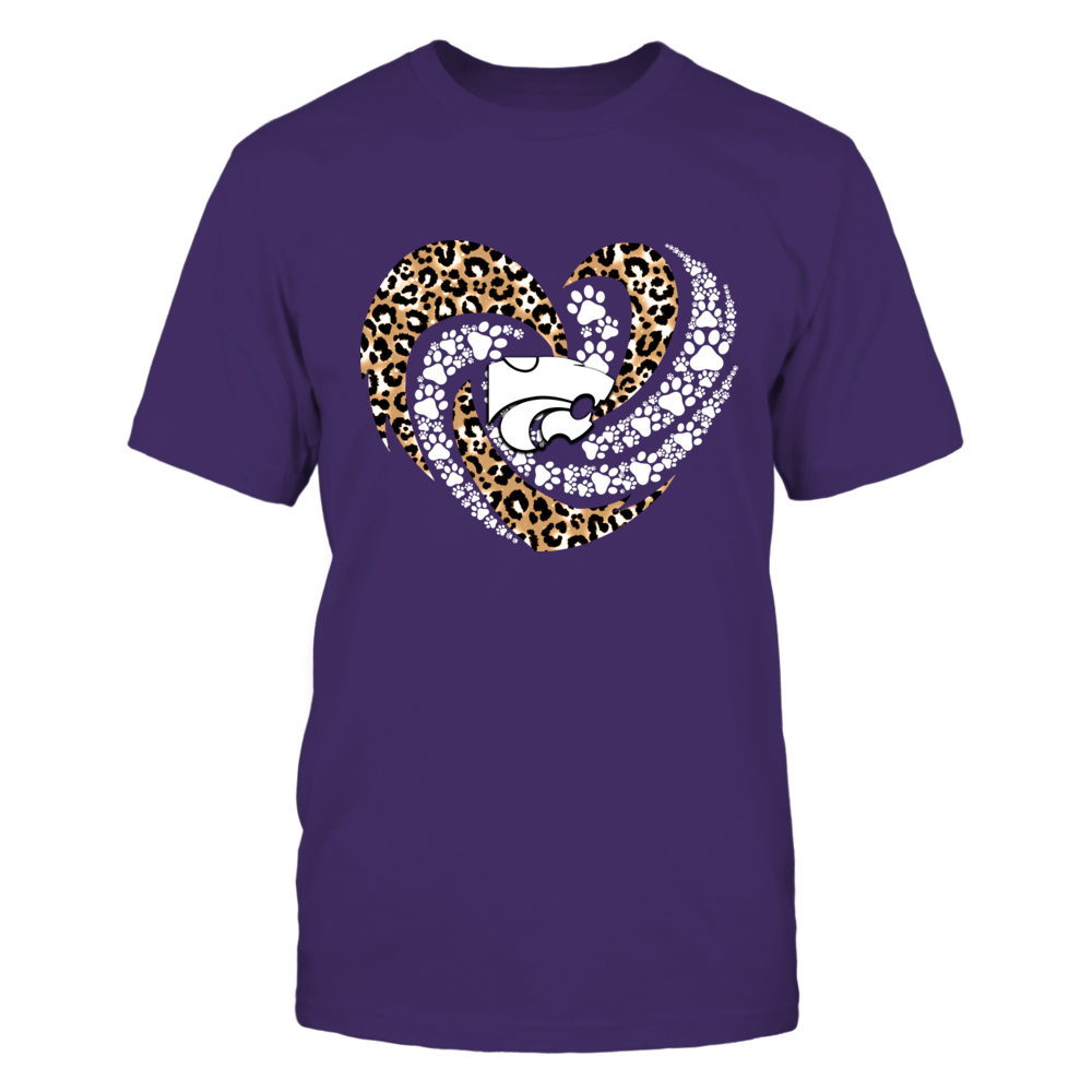 Kansas State Wildcats - Leopard Hurricane Heart Paws Inside - IF13-IC13-DS45 Front picture