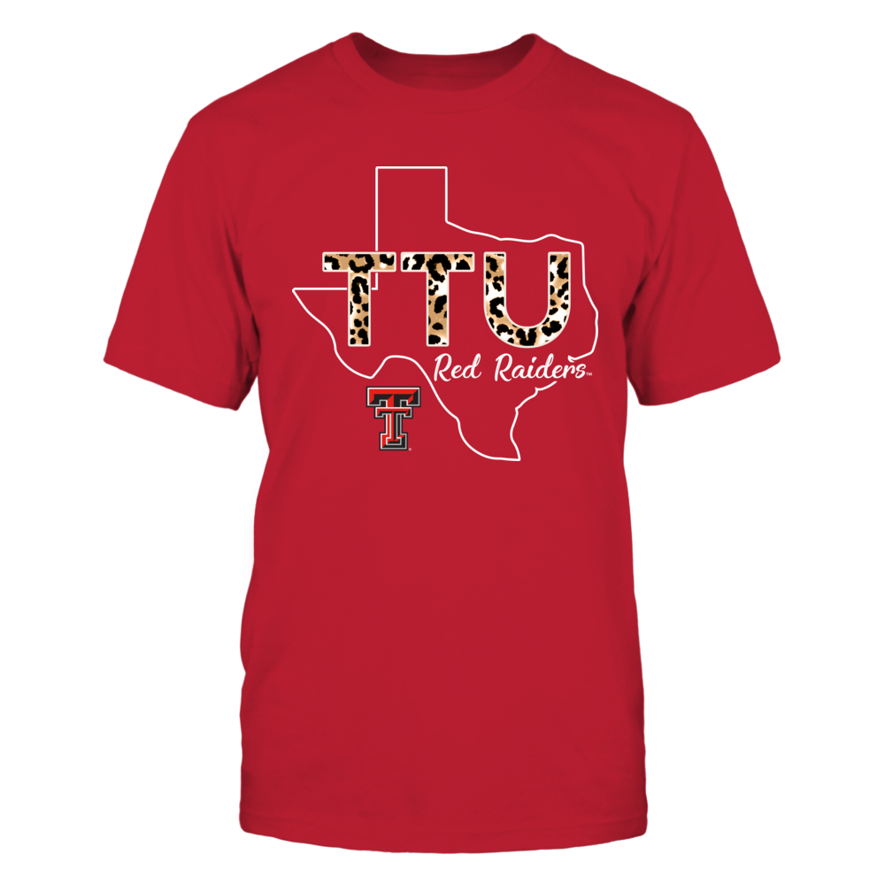 Texas Tech Red Raiders - Leopard Pattern Team Name - State Outline - IF13-IC13-DS63 Front picture
