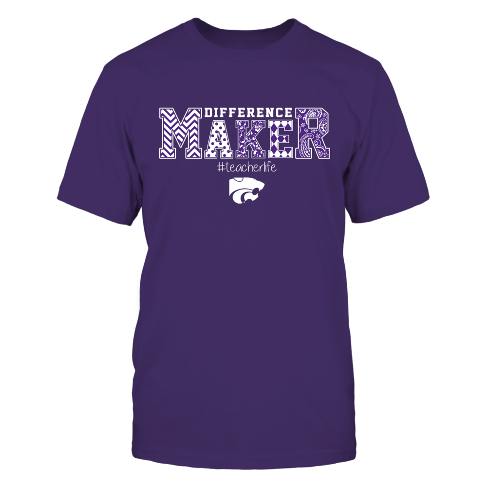 Kansas State Wildcats - Teacher - Difference Maker Slogan Pattern - IF17-IC17-DS37 Front picture