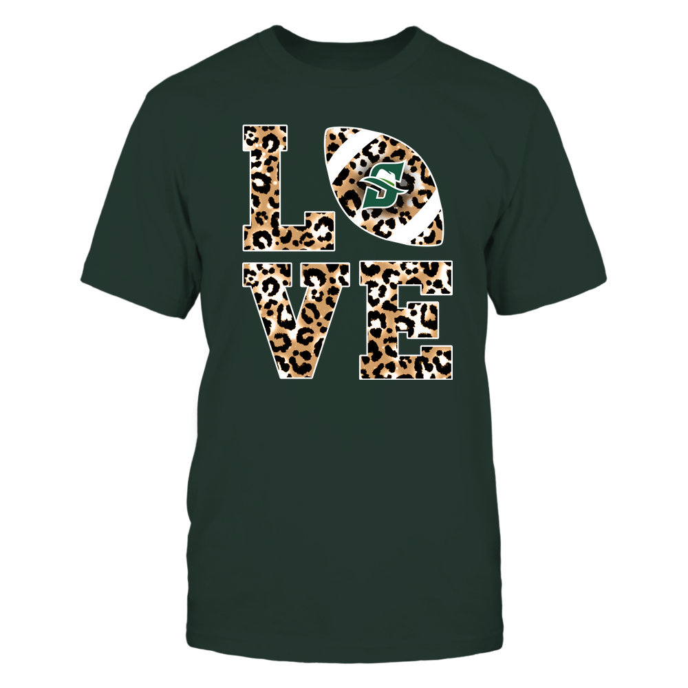 Stetson Hatters - 19082610574 - Stacked Love Football - Leopard Front picture