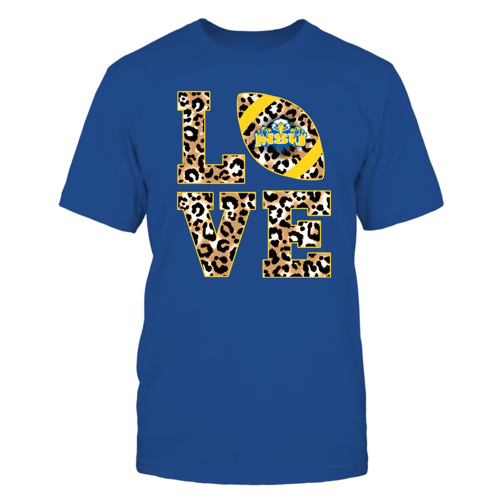 Morehead State Eagles - 19082610574 - Stacked Love Football - Leopard Front picture