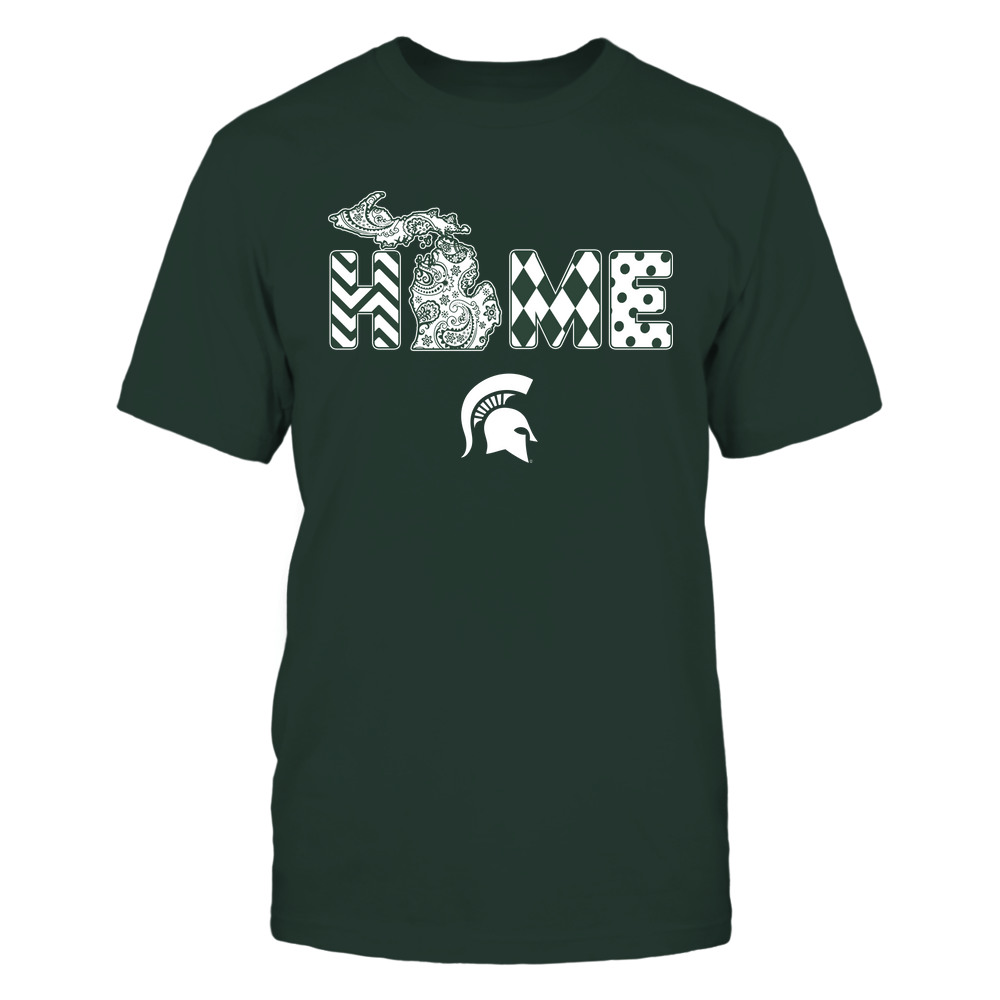 Michigan State Spartans - Home State Map - Patterned - IF13-IC13-DS63 Front picture