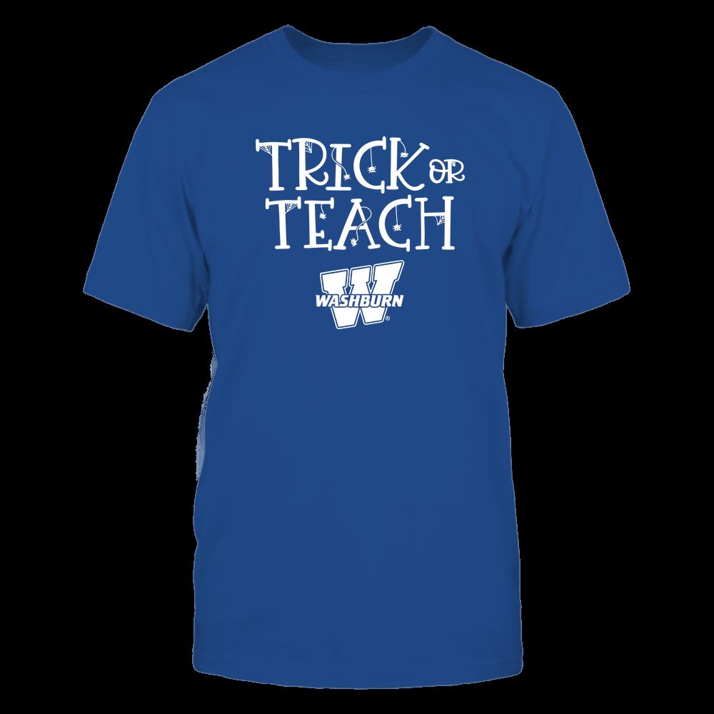 Washburn Ichabods - Trick or Teach Funny Teacher Halloween Shirt Front picture