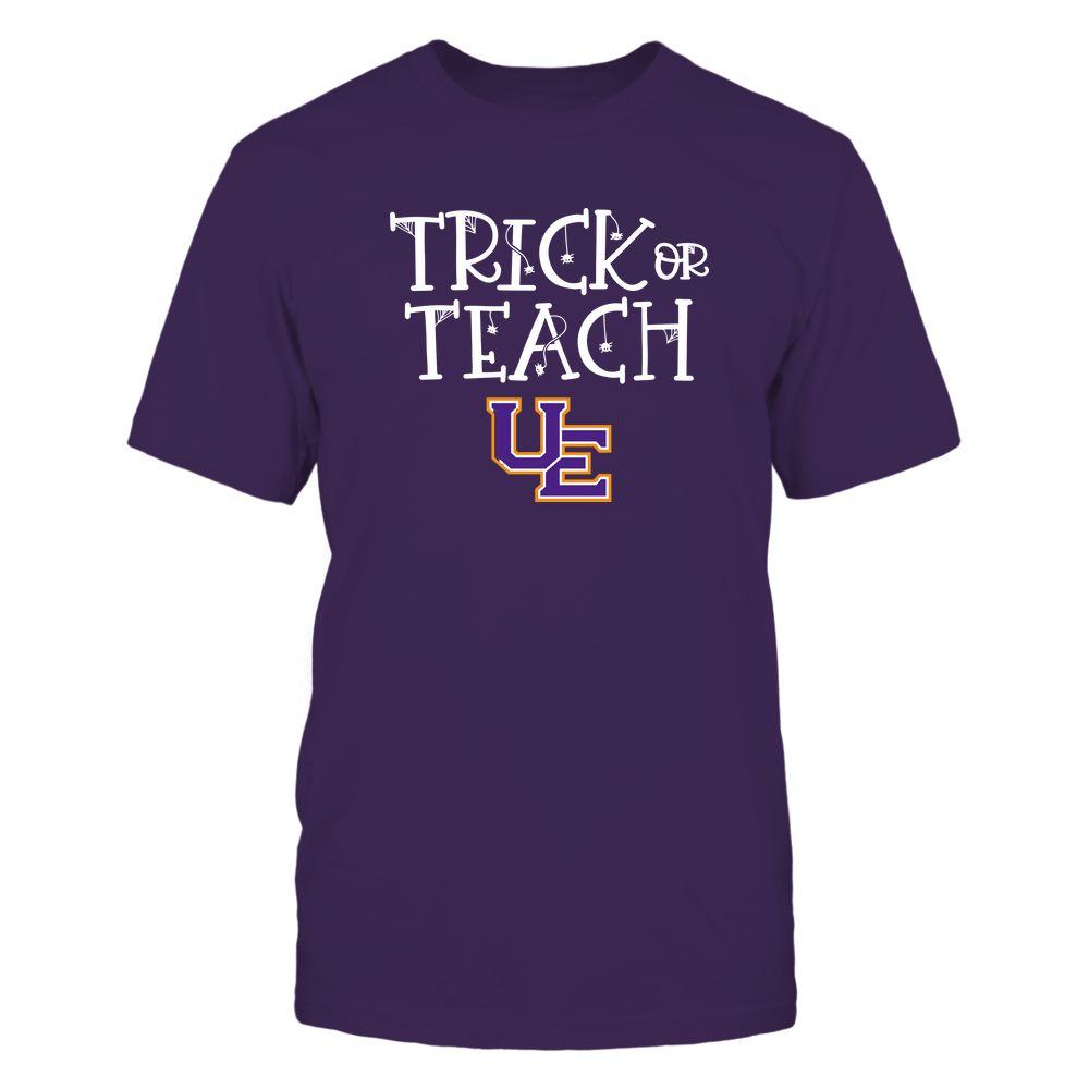 Evansville Purple Aces - Trick or Teach Funny Teacher Halloween Shirt Front picture