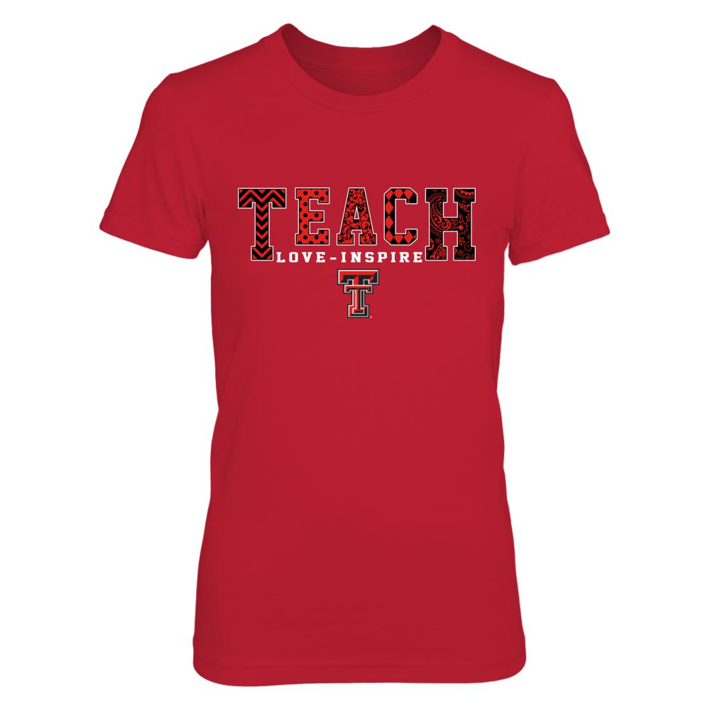Texas Tech Red Raiders - Teach Love Inspire - Slogan Pattern - IF-IC17-DS83 Front picture