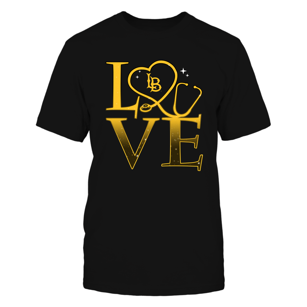 Long Beach State 49ers - Stacked Love Swirly Heart - Nurse Front picture