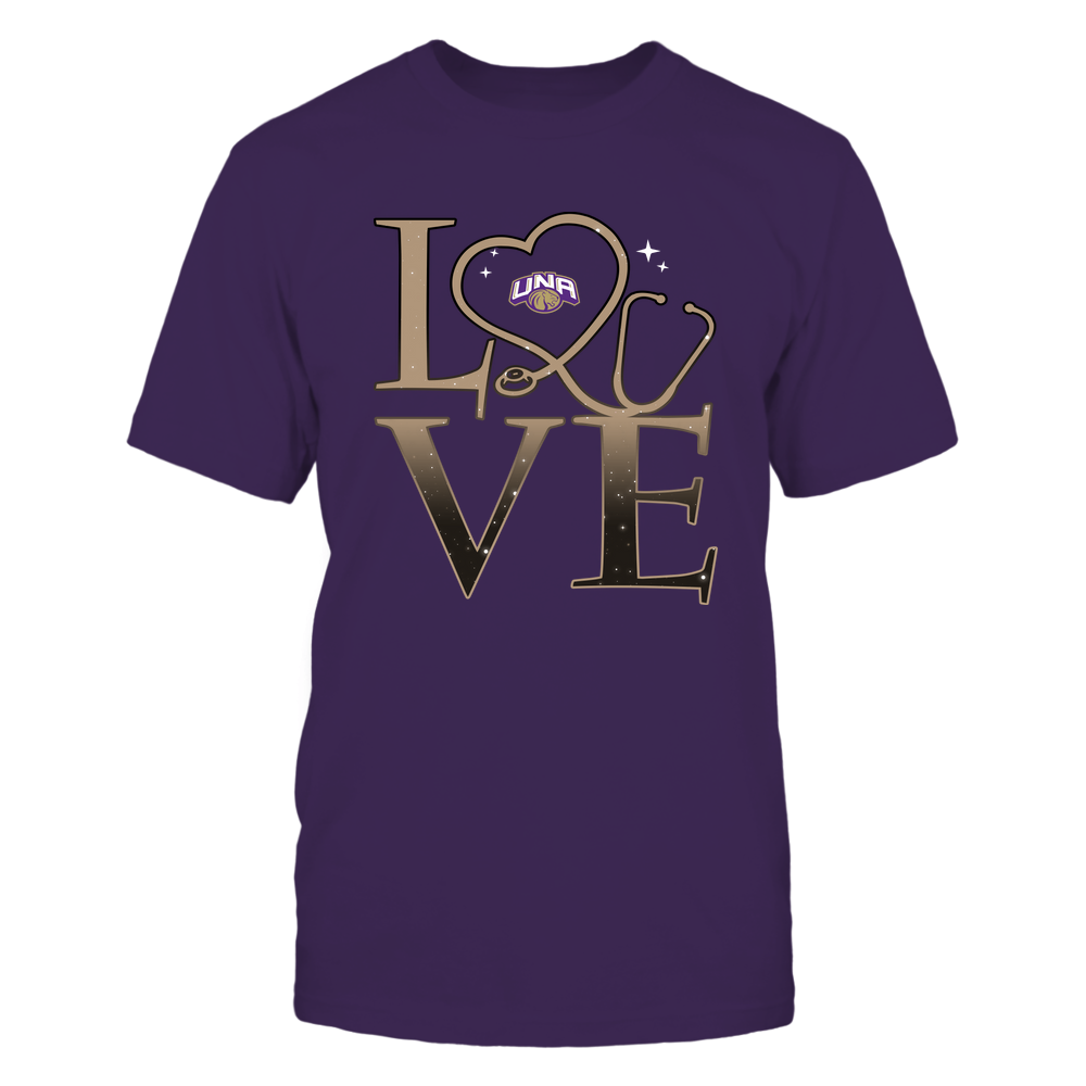 North Alabama Lions - Stacked Love Swirly Heart - Nurse Front picture