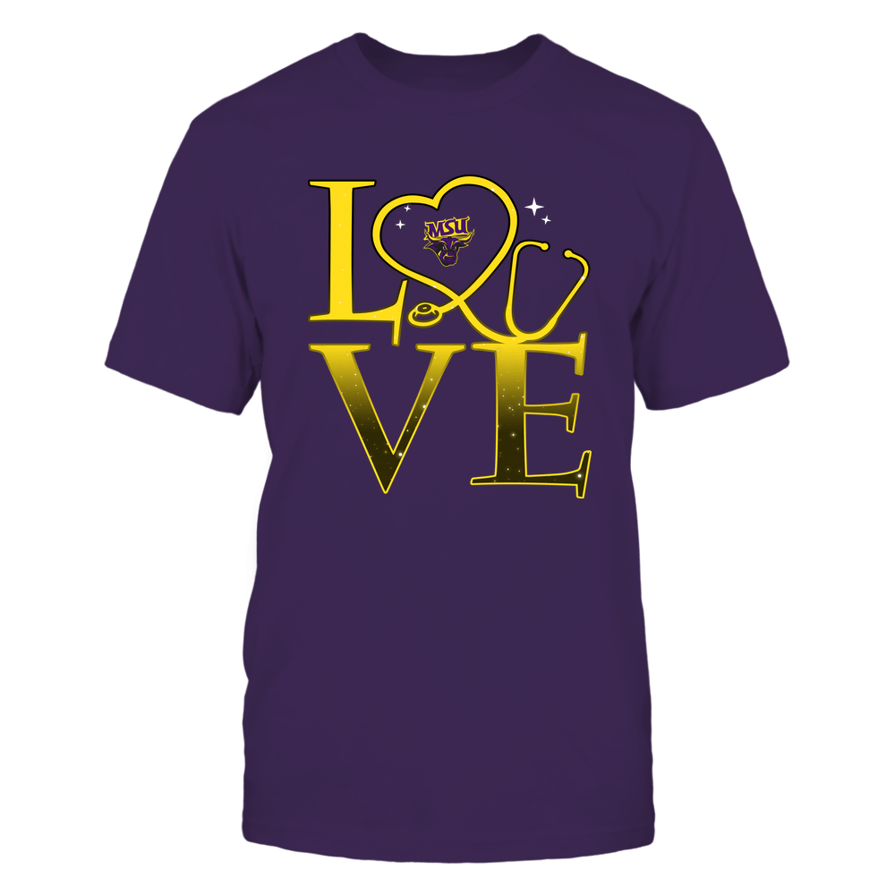 Minnesota State Mavericks - Stacked Love Swirly Heart - Nurse Front picture