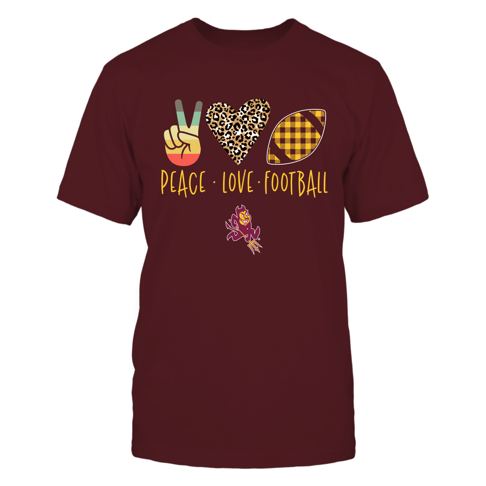 Arizona State Sun Devils - Peace Love Football - IF32-IC32-DS45 Front picture