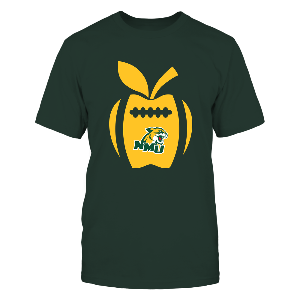 Northern Michigan Wildcats - Teacher - Apple Football Line Front picture