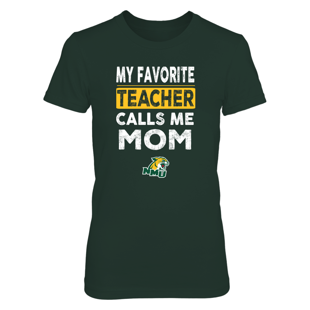 Northern Michigan Wildcats - My Favorite Teacher - Mom Front picture