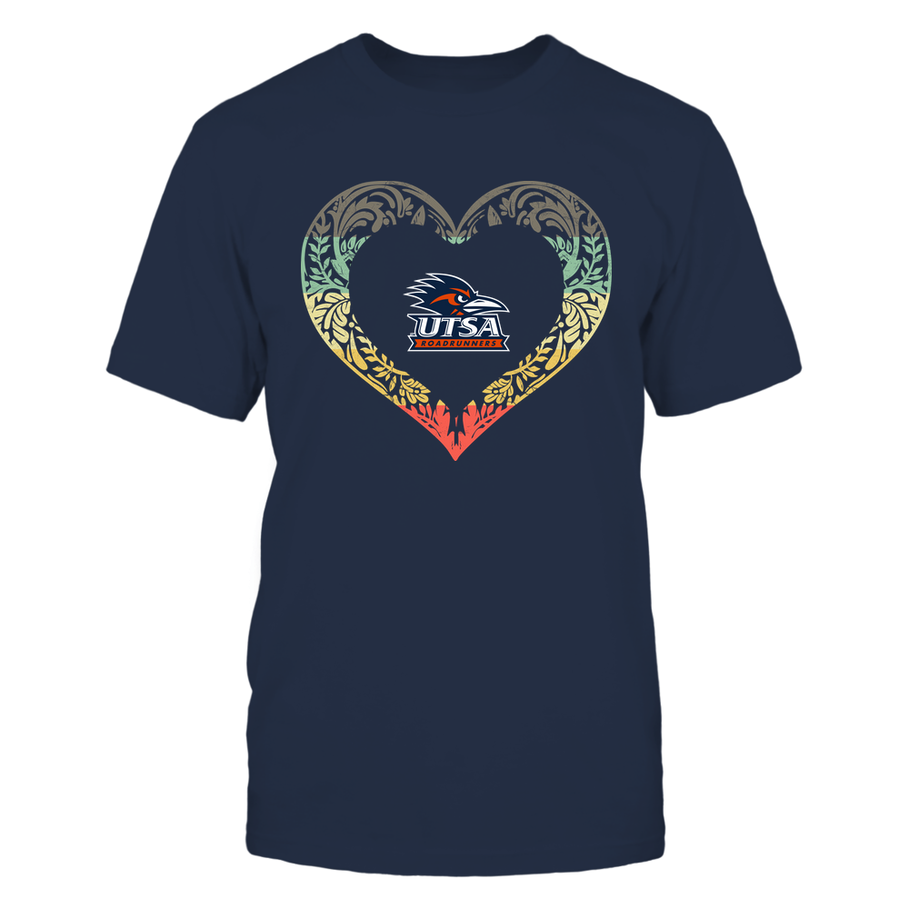 UTSA Roadrunners - Pattern Heart - Vintage Graphic Front picture