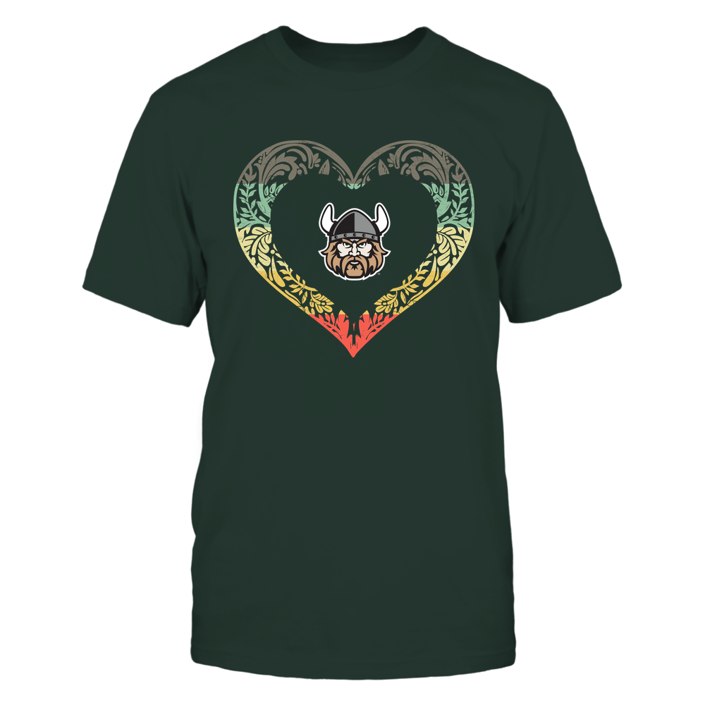 Cleveland State Vikings - Pattern Heart - Vintage Graphic Front picture