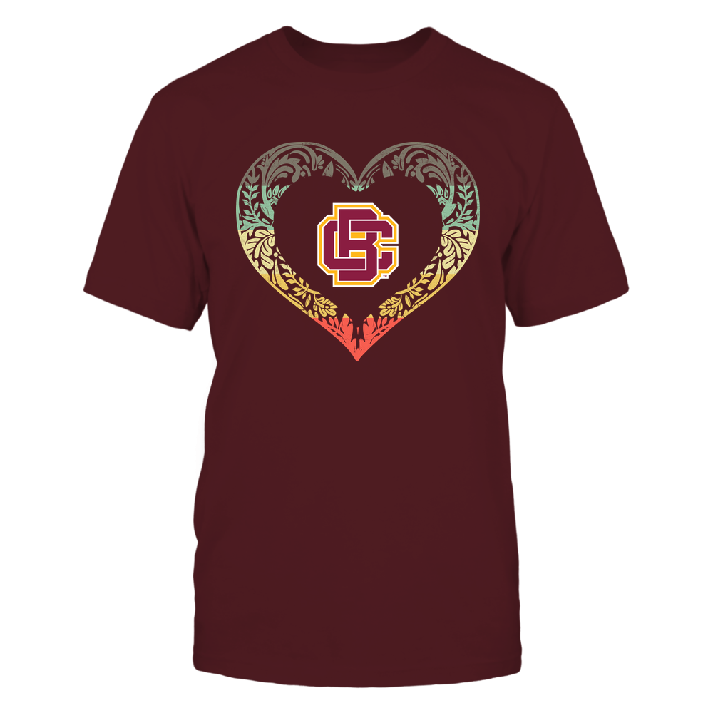 Bethune-Cookman Wildcats - Pattern Heart - Vintage Graphic Front picture