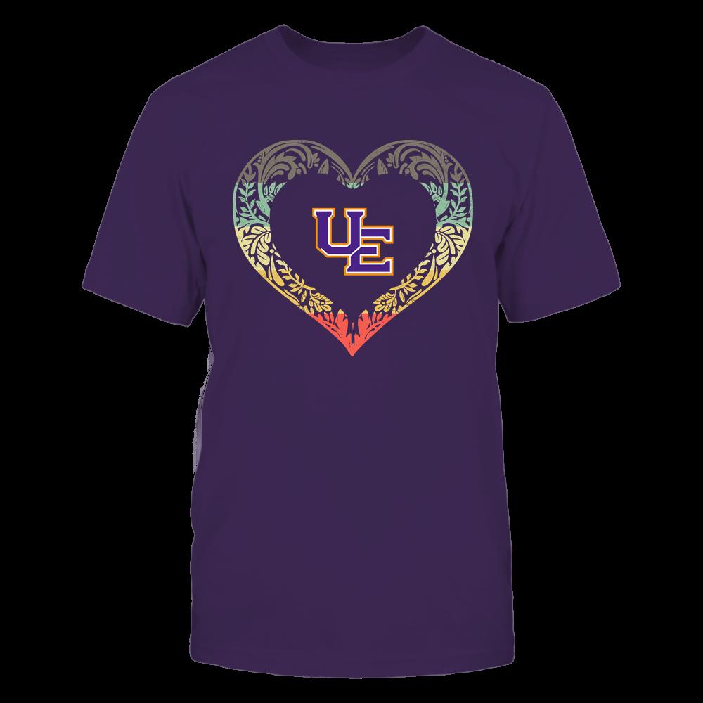 Evansville Purple Aces - Pattern Heart - Vintage Graphic Front picture