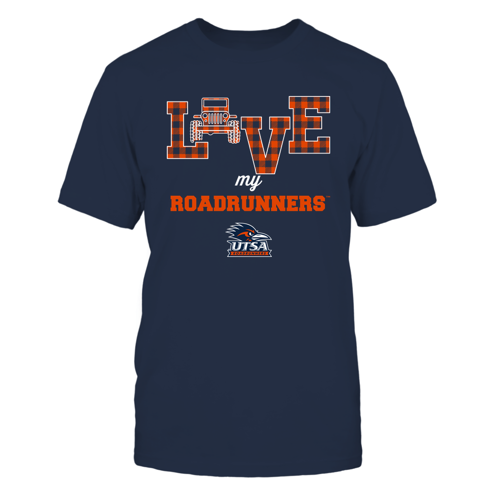 UTSA Roadrunners - Love My Team - Jeep - Checked Pattern Front picture