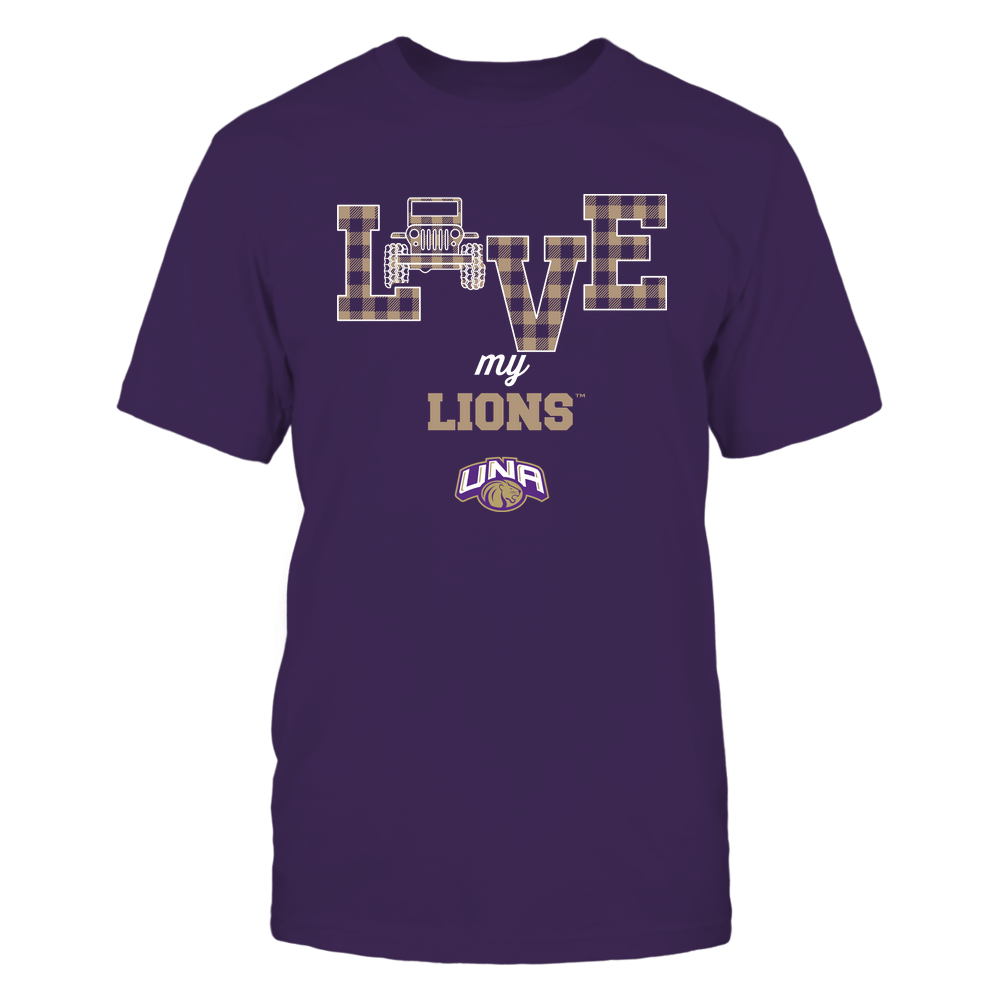 North Alabama Lions - Love My Team - Jeep - Checked Pattern Front picture