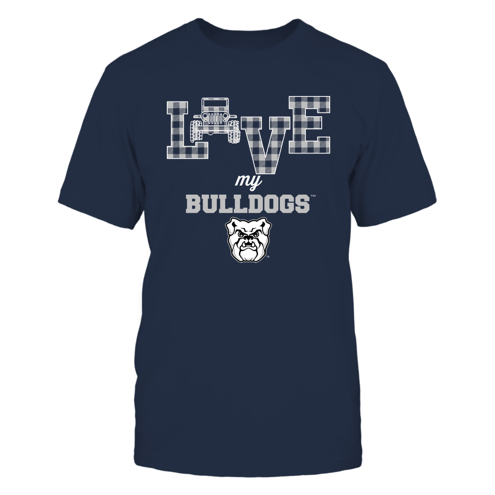 Butler Bulldogs - Love My Team - Jeep - Checked Pattern Front picture