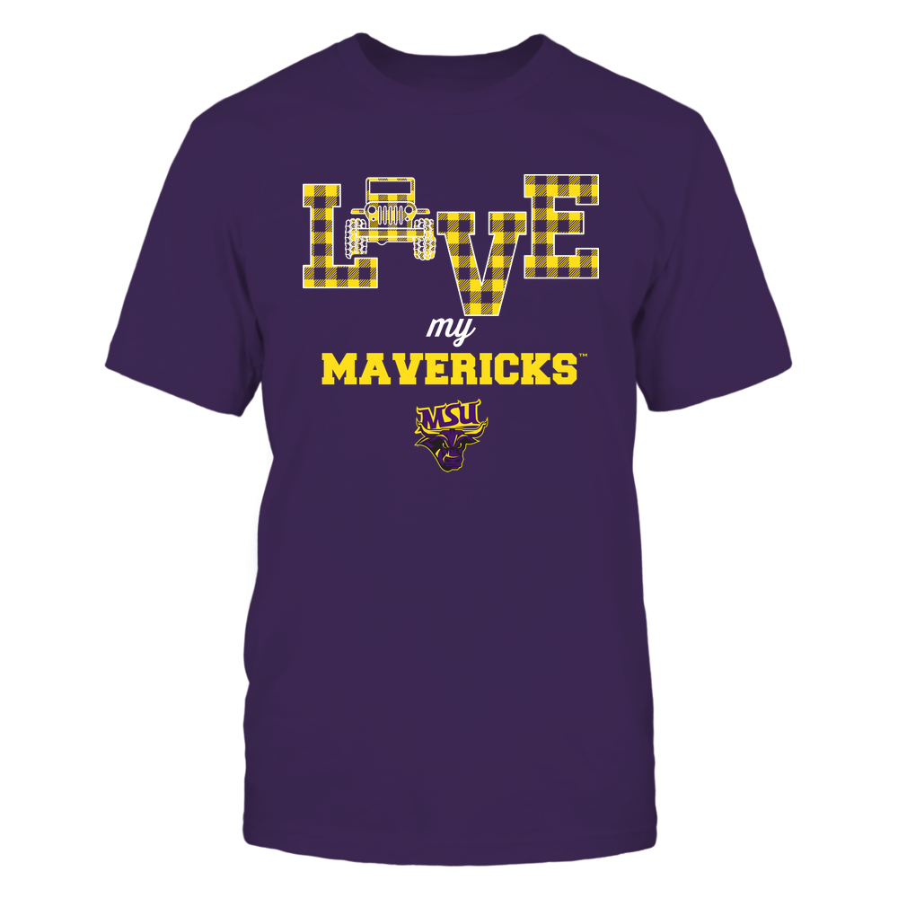 Minnesota State Mavericks - Love My Team - Jeep - Checked Pattern Front picture